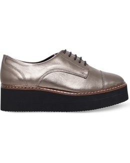 Love Metallic-leather Flatform Derby Shoes