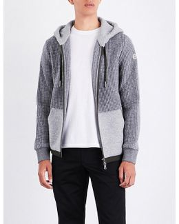 Contrast-panel Knitted Hoody