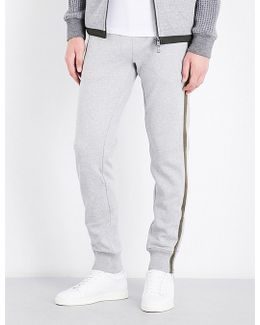 Striped-side Cotton-jersey Jogging Bottoms