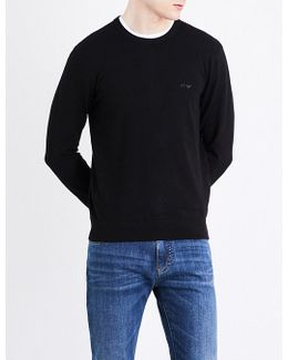 Crewneck Cotton-blend Jumper