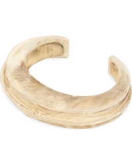 Acid-wash Silver-plated Brass Bangle
