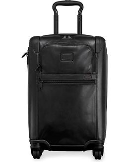 Alpha 2 International Four-wheel Expandable Leather Carry On