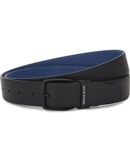 Holepunched Reversible Leather Belt