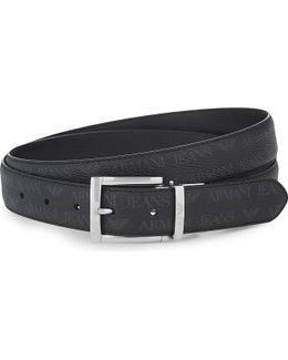 Grained Leather Reversible Belt