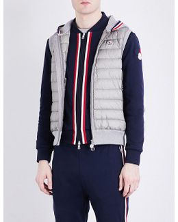 Shell-panel Knitted Gilet