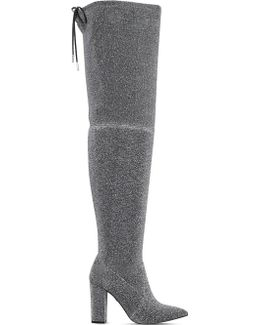 Grape Glitter Over-the-knee Boots