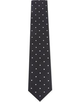Polka Dot Silk Tie
