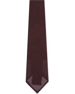 Wide Weave Silk Tie