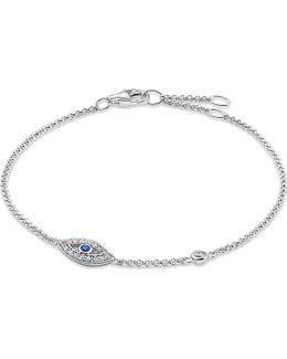 Fatima's Garden Sterling Silver And Zirconia-pavé Bracelet