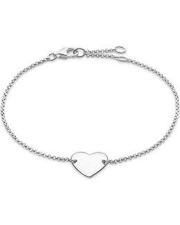 Classic Sterling Silver Heart Bracelet