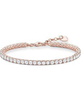 Rose Gold-plated Zirconia Tennis Bracelet