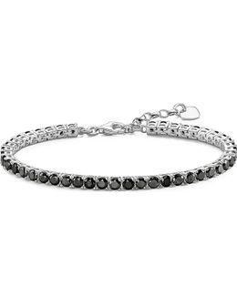 Black Cubic Zirconia Tennis Bracelet