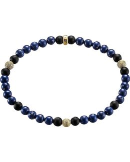 Rebel At Heart Gold-plated Sterling Silver And Obsidian Beaded Bracelet
