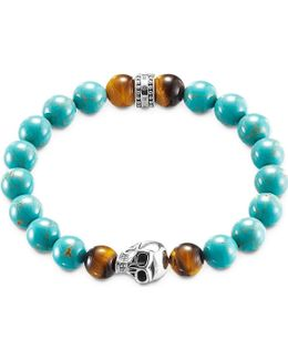 Rebel At Heart Turquoise Skull Bracelet