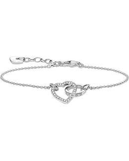 Together Forever Heart Sterling Silver Bracelet