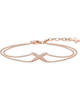 Classic X 18ct Rose Gold And Zirconia Bracelet
