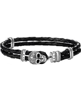 Rebel At Heart Leather And Sterling Silver Bracelet
