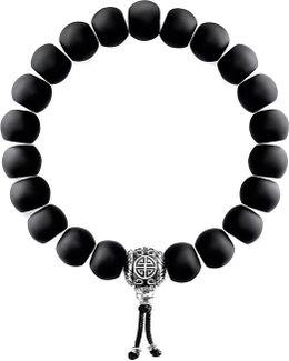 Rebel At Heart Matte Obsidian Beaded Bracelet
