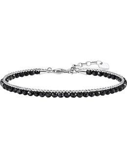 Chakra Onyx And Sterling Silver Bracelet
