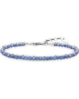 Chakra Dumortierite And Sterling Silver Bracelet