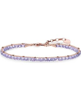 Chakra 18ct Rose Gold-plated And Amethyst Bracelet