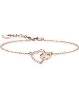 Together Forever Heart Sterling Silver And 18ct Rose Gold Bracelet