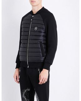 Embellished-skull Jersey And Quilted Jacket