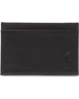 Pony-embossed Leather Card Case