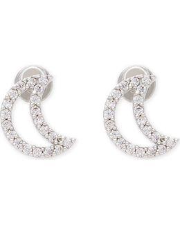 New Tricks Rhodium Moon Earrings