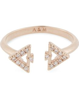 Fitzgerald Triangle Rose Gold Ring