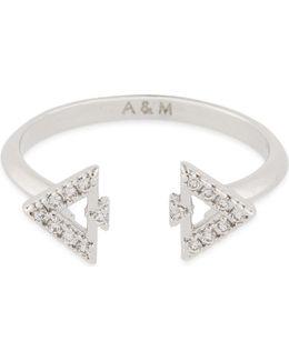 Fitzgerald Triangle Rhodium Ring