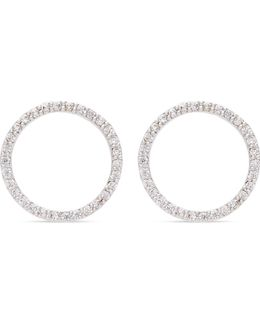 Tuxedo Rhodium Circle Earrings