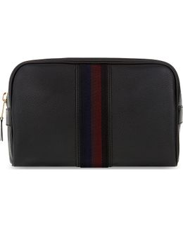 City Web Leather Wash Bag