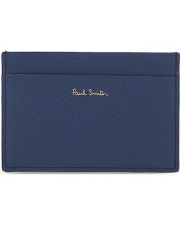 Tri-tone Saffiano Leather Card Holder