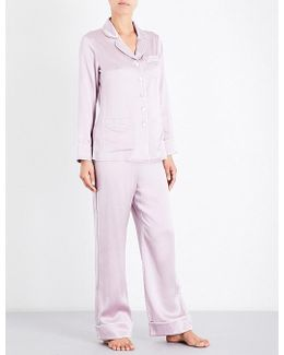 Coco Amethyst Silk-satin Pyjama Set