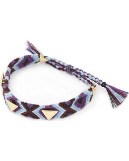 Ladies Black Luxury Triangular Stud Friendship Bracelet