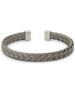 Bamboo Braid Sterling Silver Bracelet