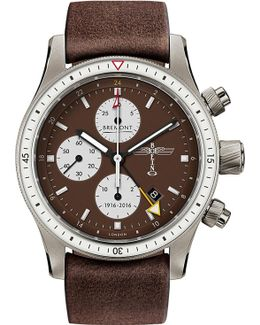 Bb100 Boeing 100 Titanium And Leather Chronograph Watch