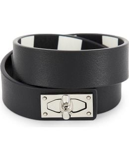 Double-wrap Shark Tooth Leather Bracelet