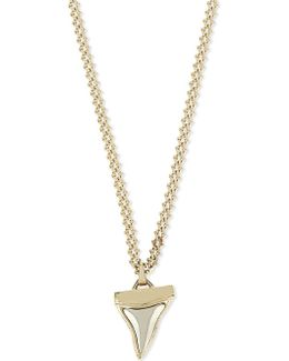Shark Tooth Gold-toned Necklace