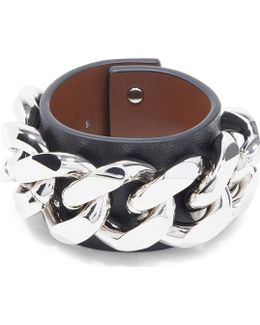 Infinity Chain Leather Bracelet