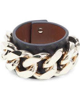 Infinity Chain Leather Bracelet