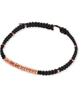 Mens Luxe Rose Gold-plated Macramé Bamboo Bracelet