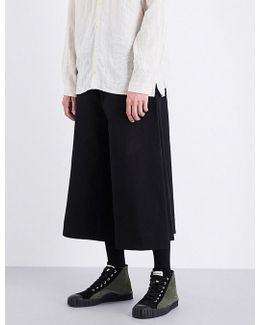 Boxer Cropped Cotton-twill Trousers