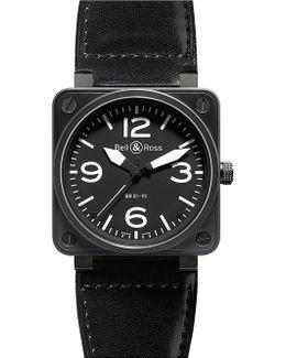 Br0192-bl-ca Aviation Steel Watch