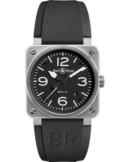 Br0392blst Stainless Steel And Rubber Strap