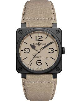Aviation Br 03-92 Ceramic Desert Type Watch