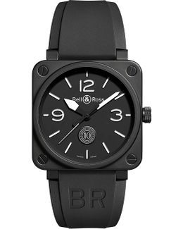 Br0394blce Aviation Ceramic And Rubber Watch