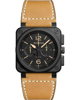 Br0394herice Heritage Ceramic And Leather Watch