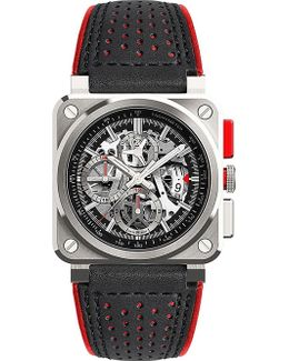 Br03 Aviation Aerogt Stainless Steel Watch